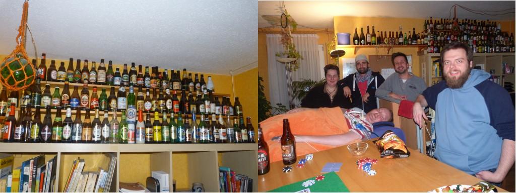 diewerse Bierflaschen&nbsp &nbsp    &nbsp    Poker- Round Mitgliede